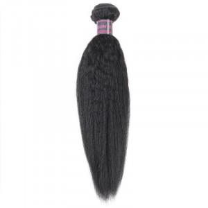 Straight Peruvian Hair Yaki Straight Human Hair 3 Bundles