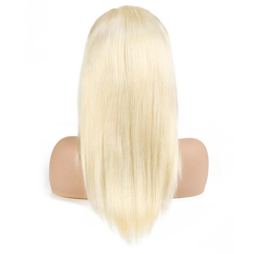 Brazilian Platinum Blonde 613 Lace Frontal Straight Human Hair Wigs