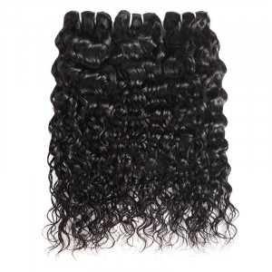 Virgin Peruvian Water Wave Human Hair 3 Bundles