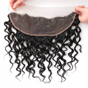 Water Wave Ear to Ear 13x4 Lace Frontal With Baby Hair