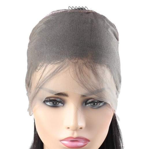 Peruvian 360 Lace Front Straight Human Hair Wig