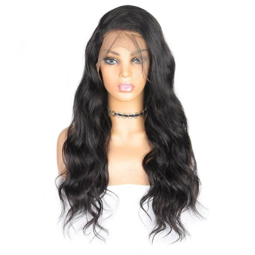 Peruvian Hair Body Wave 360 Lace Front Pre-Plucked Human Hair Wig