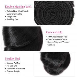 Loose Wave Hair 3 Bundles Virgin Brazilian Human Hair Weave