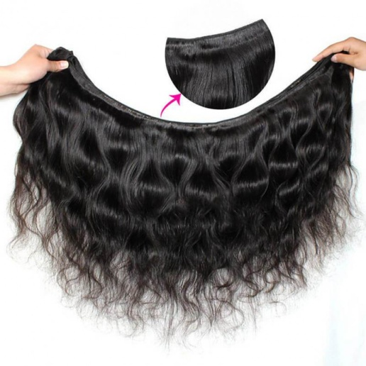 Virgin Indian Body Wave Hair 3 Bundles with 360 Lace Frontal Hair