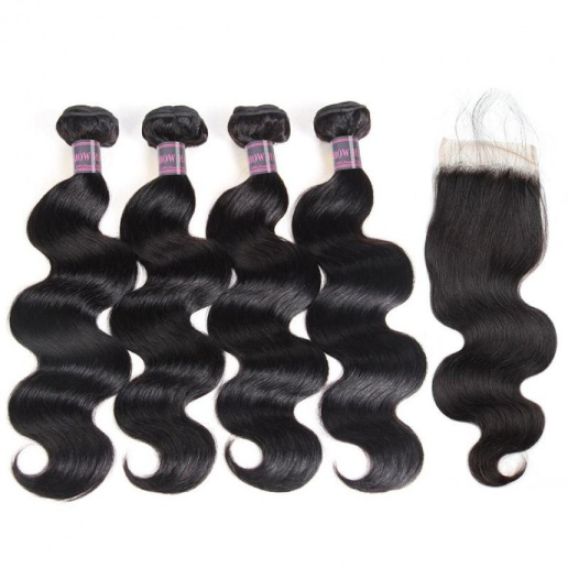 indian-hair-body-wave-4-bundles-with-lace-closure