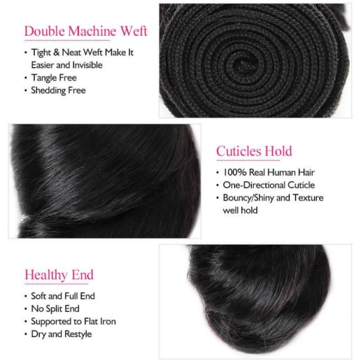 indian hair loose wave 4 bundles with lace frontal