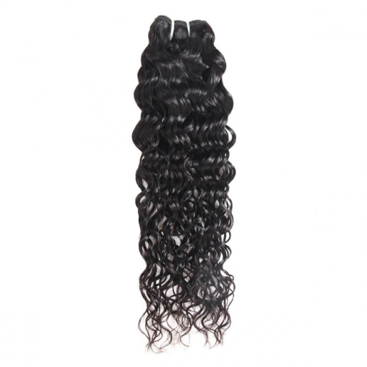 indian hair water wave 4 bundles with lace closure