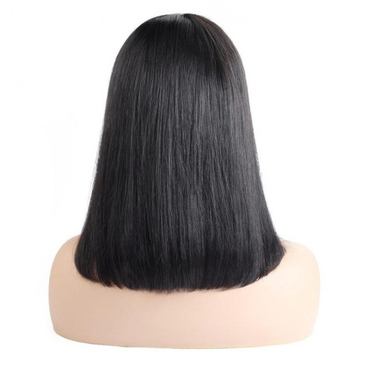 indian short bob hair wig middle part lace closure human hair wigs