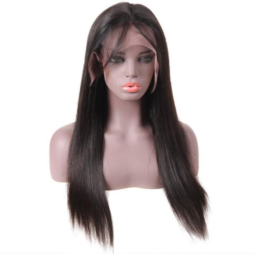 indian straight remy human hair wigs lace front wig