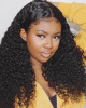 Kinky Curly 13x6 Lace Frontal Wigs Virgin Human Hair Pre Plucked