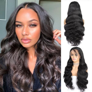 brazilian remy body wave hair 4x4 lace frontal wig