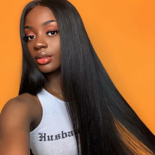 Lace front hair wigs peruvian virgin remy straight human hair wig