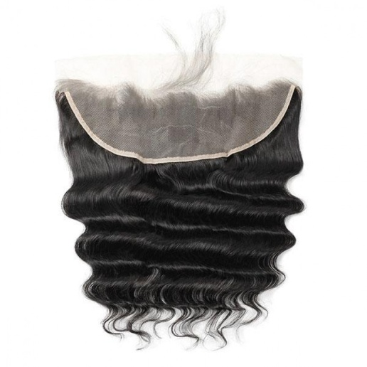 loose deep wave ear to ear 13 4 lace frontal closure pre plucked with baby hair