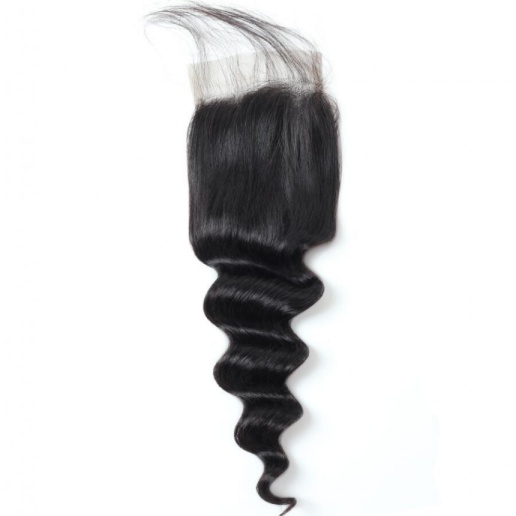 loose deep wave hair 4 4 lace closure with baby hair