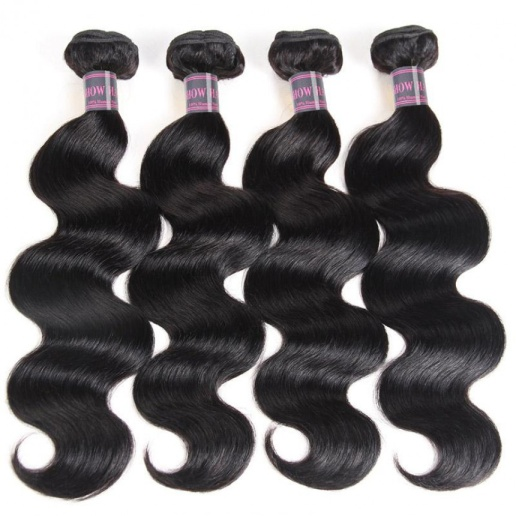 malaysian hair body wave 4 bundles with lace frontal