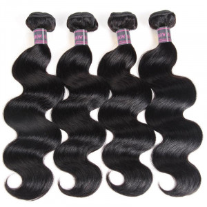 Natural Wave Bundles Malaysian Hair Body Wave 4 Bundles Human Hair Extensions Natural Color