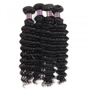 malaysia bundles deep wave human hair 4 bundles
