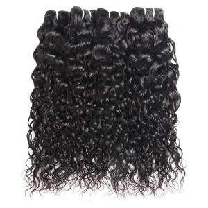 Malaysian Water Wave Ishow Hair Weave 4 Bundles Natural Color 100% Remy Human Hair Extensions 8''-28''