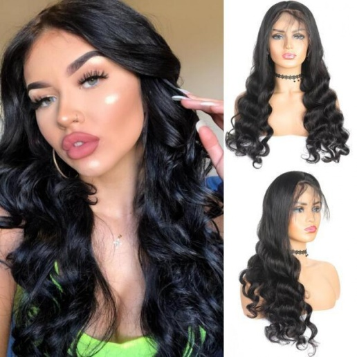Malaysian Loose Wave Hair 4x4 Lace Closure Wig Factory Virgin Remy human Hair Wigs