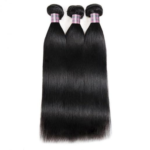 Malaysian Virgin Remy Straight Human Hair Weave 3 Bundles