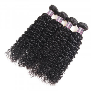 Peruvian Curly Hair 4 Bundles 100% Virgin Human Hair Extensions