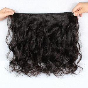 Peruvian Loose Wave 4 Bundles with 13*4 Lace Frontal Closure