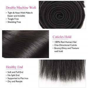 Virgin Peruvian Straight Hair 4 Bundles Human Hair Weave