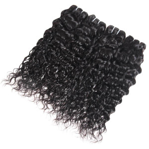 Virgin Peruvian Water Wave Human Hair Weave 4 Bundles