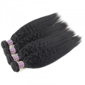 Peruvian Yaki Straight Human Hair Weave 4 Bundles Deal 100% Virgin Remy Human Hair Extensions