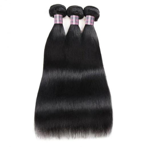 Virgin Peruvian Hair Straight Human Hair 3 Bundles