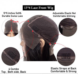 Straight 13x6 Lace Front Wigs Virgin Human Hair With Baby Hair