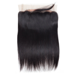 Virgin Brazilian Straight Human Hair 360 Lace Frontal Closure
