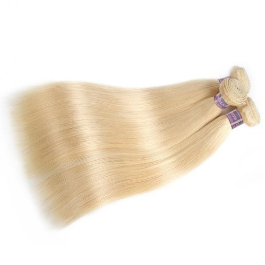 colored hair extensions straight hair 613 cheap blonde bundles with lace closure