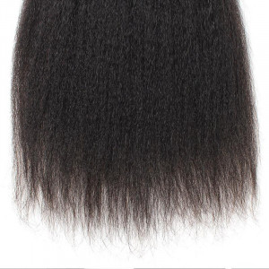 Virgin Brazilian Hair Yaki Straight Human Hair Weave 3 Bundles