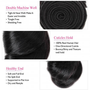 virgin indain hair loose wave human hair weave 3 bundles