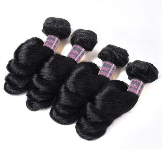 4 Bundles Peruvain Loose Wave Virgin Hair Weaves