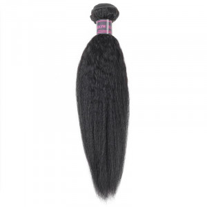 Yaki Straight Black Hair Weave Bundles Human Hair Bundles Yaki Human Hair Extension Natural Black Color