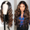 U Part Body Wave Wig Human Hair Wigs Dark Auburn 100% Human Hair Super Soft