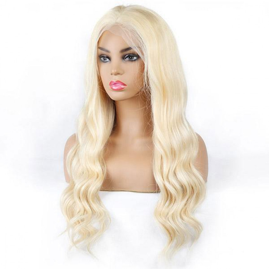 613 Blonde Color Body Wave Wig T-Part Lace Wig Human Hair Wigs