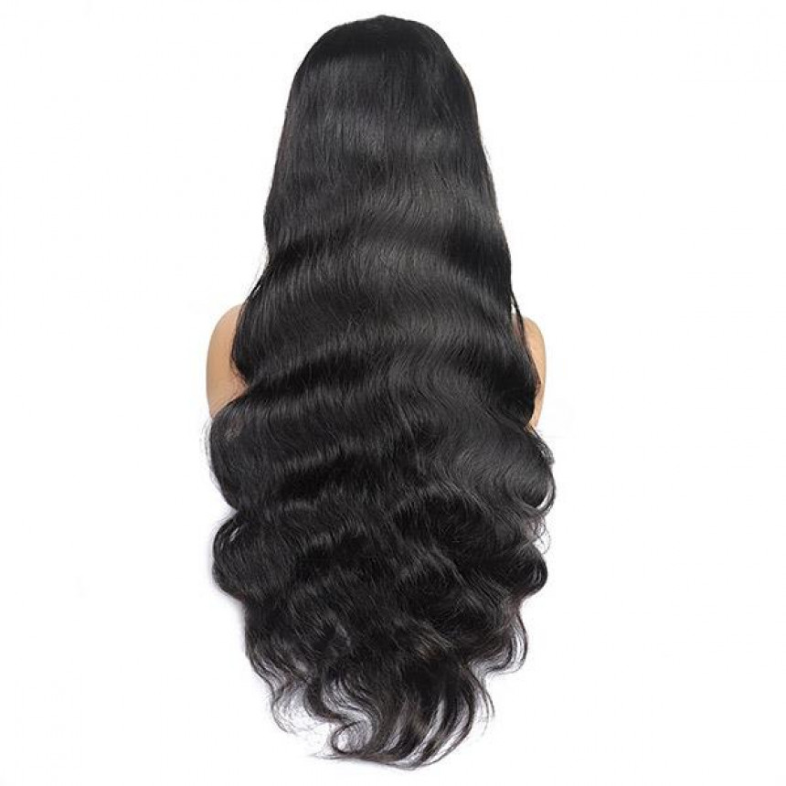 Body Wave Hair T-Part Lace Front Wig 10A Grade Virgin Remy Human Hair Wigs