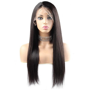 Straight Hair T-Part Lace Front Wig 10A Grade Virgin Remy Human Hair Wigs
