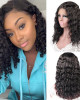 Water Wave Human Hair 10A Remy Water Wave Lace Part Human Hair Wigs