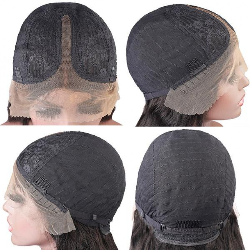10A Remy Hair Water Wave Wig Lace Part Human Hair Wigs