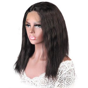 Wet and Wavy Braided Lace Part Human Hair Wig